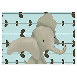 Oopsy Daisy Edison the Elephant Canvas Wall Art in Blue