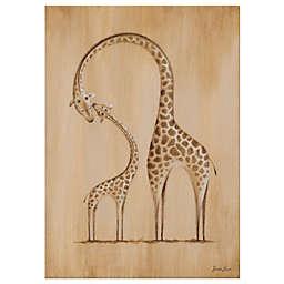 Oopsy Daisy Safari Kisses Giraffe Canvas Wall Art