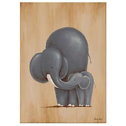 Oopsy Daisy Safari Kisses Elephant Canvas Wall Art