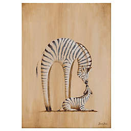 Oopsy Daisy Safari Kisses Zebra Canvas Wall Art
