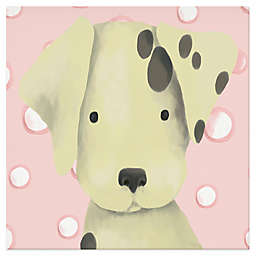 Oopsy Daisy Radley the Dalmation Canvas Wall Art in Pink