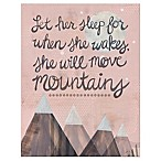 Oopsy Daisy Let Her Sleep Canvas Wall Art in Pink