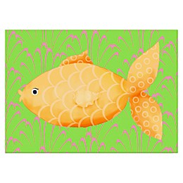 Oopsy Daisy Mia the Fish Canvas Wall Art in Yellow/Orange