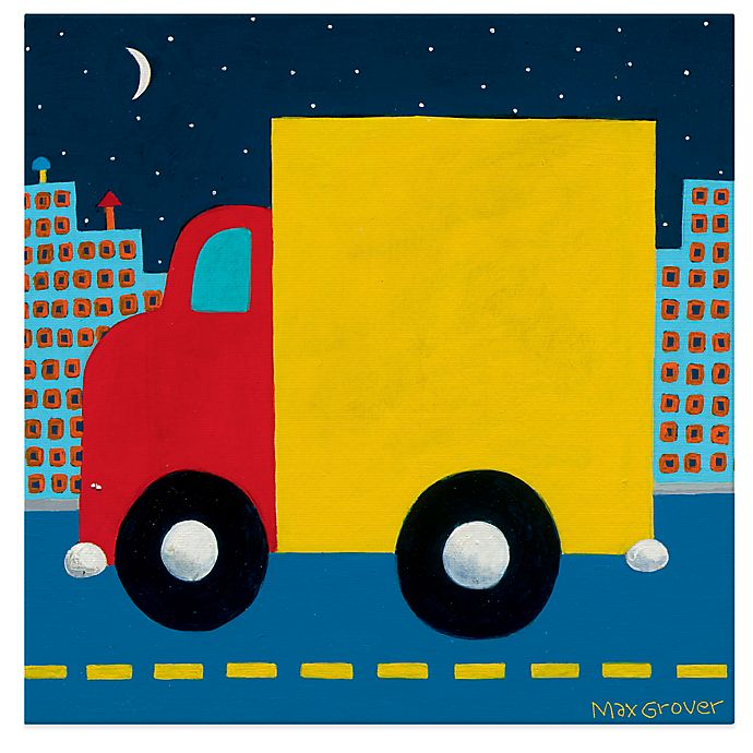Alternate image 1 for Oopsy Daisy Night Delivery Canvas Wall Art