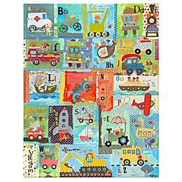 Oopsy Daisy Go Alphabet Canvas Wall Art