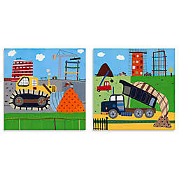 Oopsy Daisy Too Build It 2-Piece Canvas Wall Art