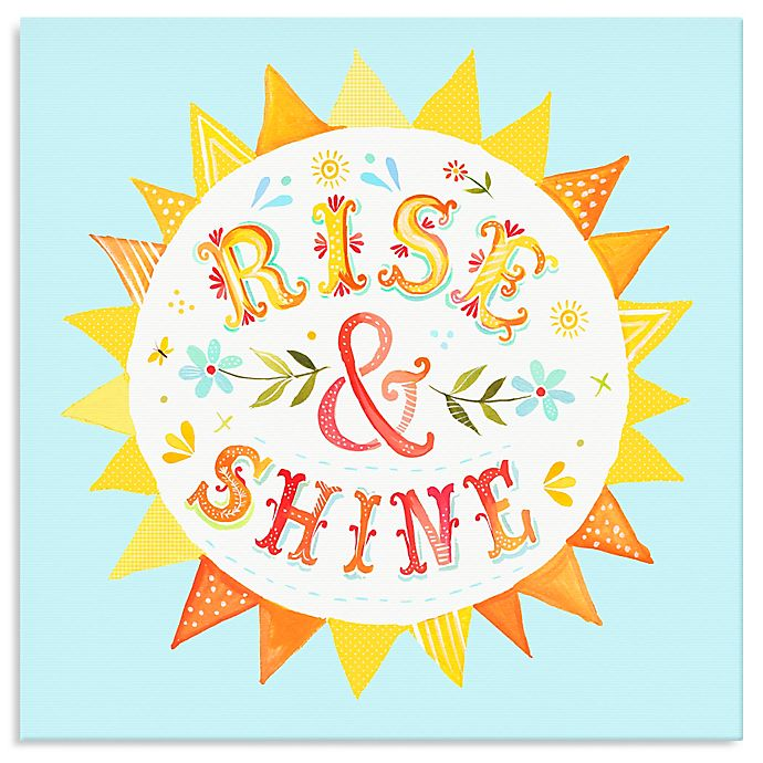 Alternate image 1 for Oopsy Daisy Too Rise & Shine Canvas Wall Art