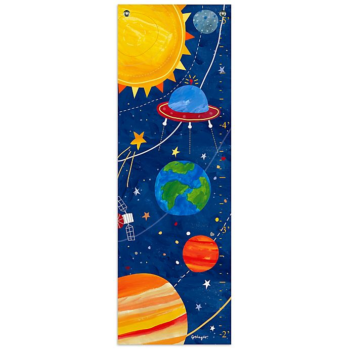 Alternate image 1 for Oopsy Daisy Too Blast Off Growth Chart Canvas Wall Art