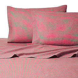 Belle Epoque La Rochelle Collection Gingham Heathered Flannel Sheet Set