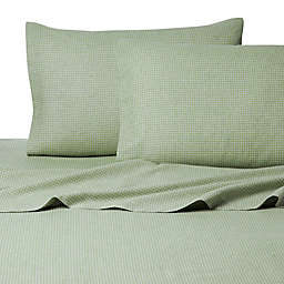 Belle Epoque La Rochelle Collection Gingham Heathered Flannel Sheet Set