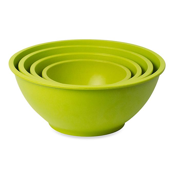 Alternate image 1 for Architec® Homegrown Gourmet 4-Piece Harvest Mixing Bowl Set in Green