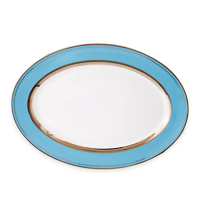 Alternate image 1 for CRU by Darbie Angell Lauderdale 14.5-Inch Oval Platter