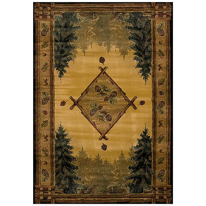 Alternate image 1 for United Weavers Forest Trail Lodge 7-Foot 10-Inch x 10-Foot 6-Inch Area Rug