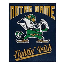 University of Notre Dame Raschel Throw Blanket