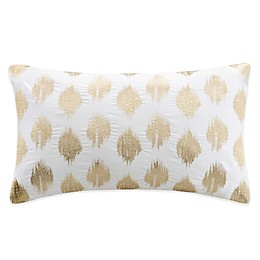INK+IVY Nadia Dot Embroidered Oblong Throw Pillow
