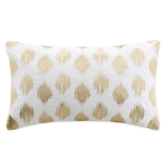 Alternate image 1 for INK+IVY Nadia Dot Embroidered Oblong Throw Pillow