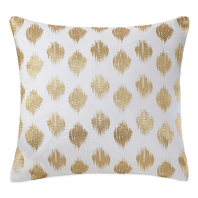 Alternate image 1 for INK+IVY Nadia Dot Embroidered Square Throw Pillow