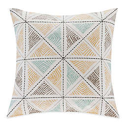 INK+IVY Zelda Embroidered Square Throw Pillow