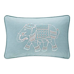 INK+IVY Zahira Embroidered Oblong Throw Pillow