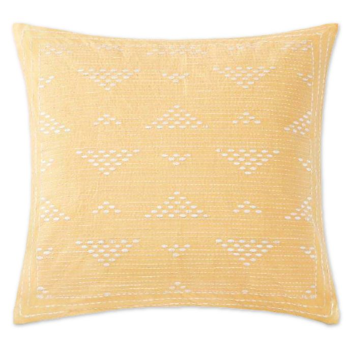 Alternate image 1 for INK+IVY Cairo Embroidered Square Throw Pillow