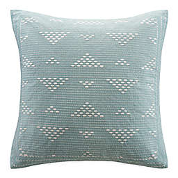 INK+IVY Cairo Embroidered Square Throw Pillow in Blue