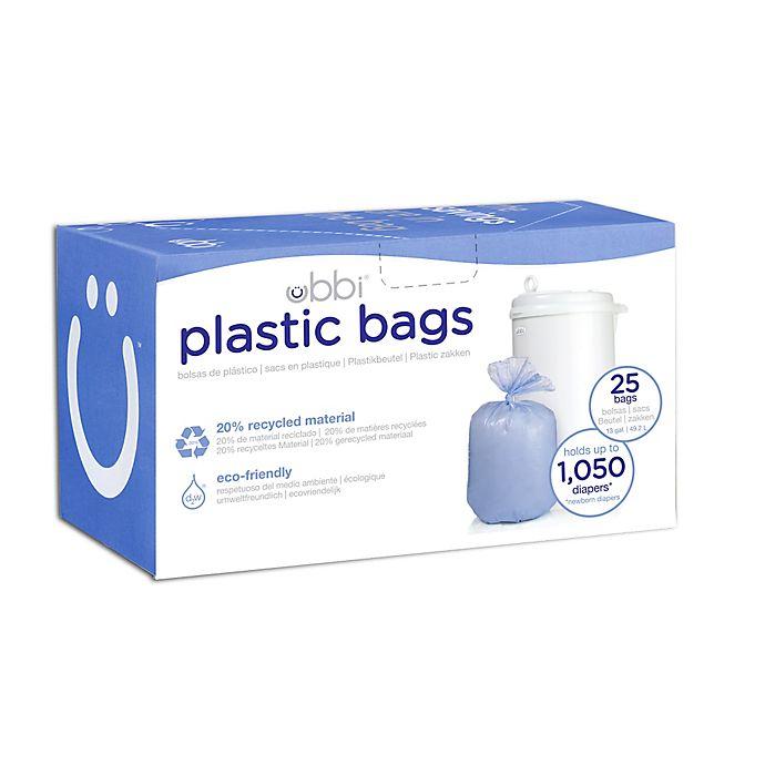 Alternate image 1 for Ubbi® Diaper Pail 25-Count Plastic Bags