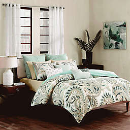 INK+IVY Mira Duvet Cover Set in Blue