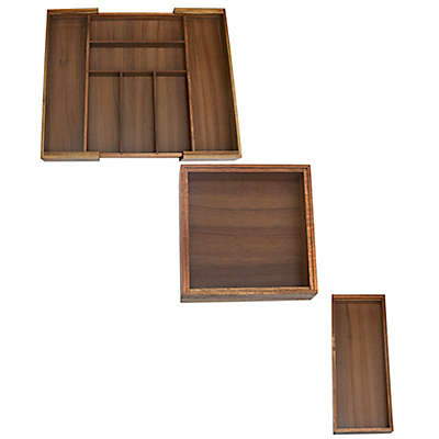 Lipper Acacia Wood Drawer Organizers