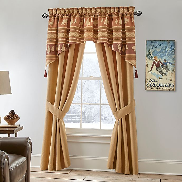 Alternate image 1 for Crescent Lodge 87-Inch Window Panel Pair