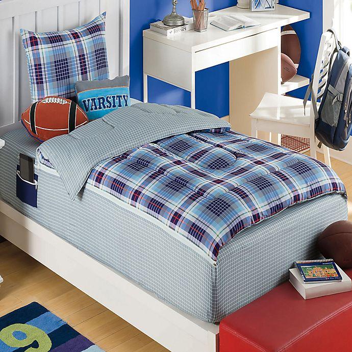 zipit bedding pep rally reversible comforter set in blue orange bed bath beyond. Black Bedroom Furniture Sets. Home Design Ideas