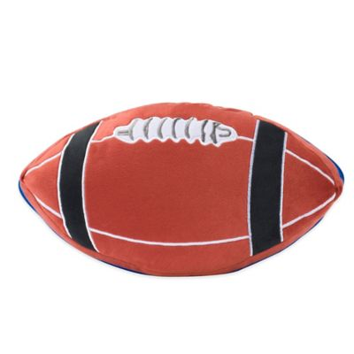 Zipit Bedding 174 Football Shaped Throw Pillow In Brown Bed