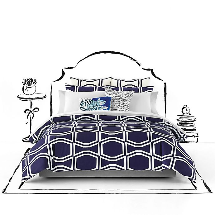 Alternate image 1 for kate spade new york Bow Tile Comforter Set