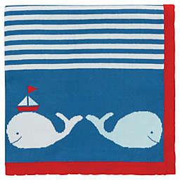Elegant Baby® Nautical Whale Knit Blanket