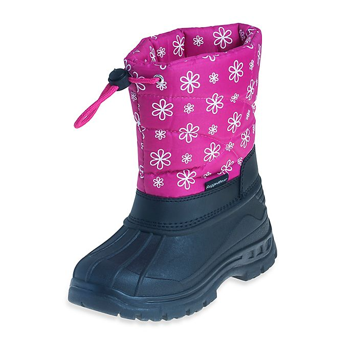 Alternate image 1 for Josmo Shoes Rugged Bear with Flower Print Snow Boot in Pink/Black