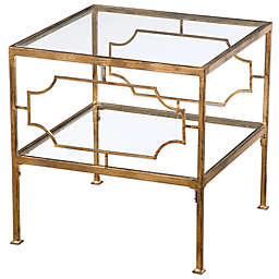 Uttermost Genell Gold Cube Side Table