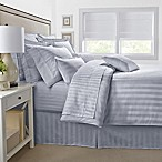 500-Thread-Count Damask Stripe King Pillow Sham in Silver