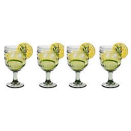 Euro Ceramica Fez Wine Glasses in Grey (Set of 4)