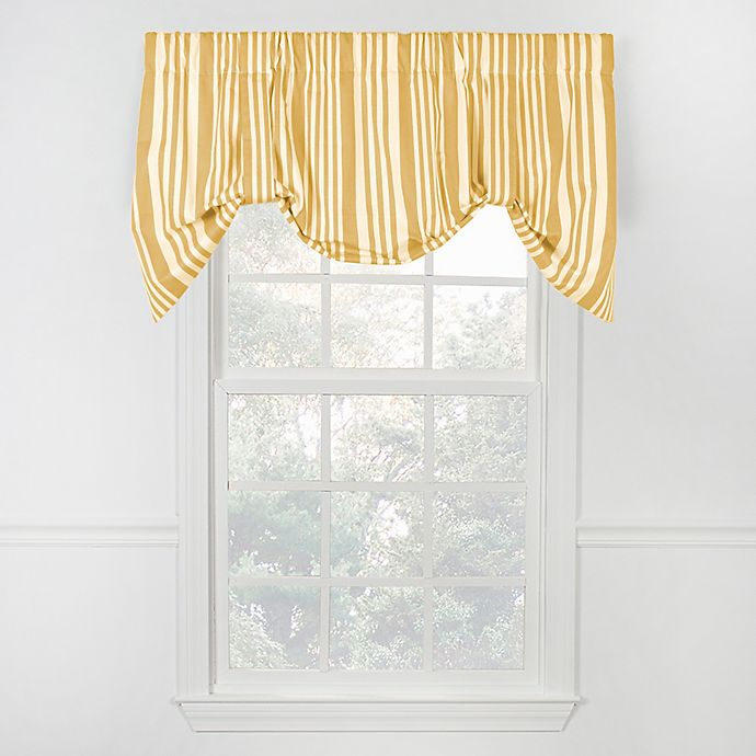 Alternate image 1 for Piper Stripe Tie Up Valance in Yellow