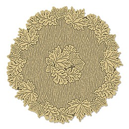 Heritage Lace® Leaf 36-Inch Round Table Topper