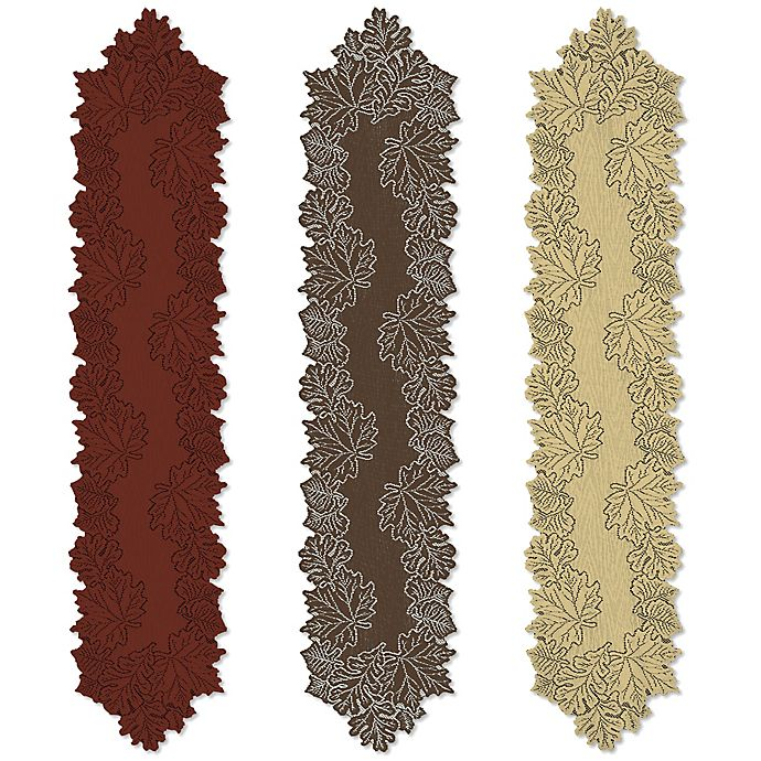 Alternate image 1 for Heritage Lace® Leaf Table Runner