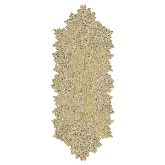 Alternate image 1 for Heritage Lace® Leaf 36-Inch Table Runner in Goldrenrod