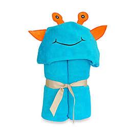 Little Ashkim Size 0-24M Alien Hooded Turkish Towel in Turquoise