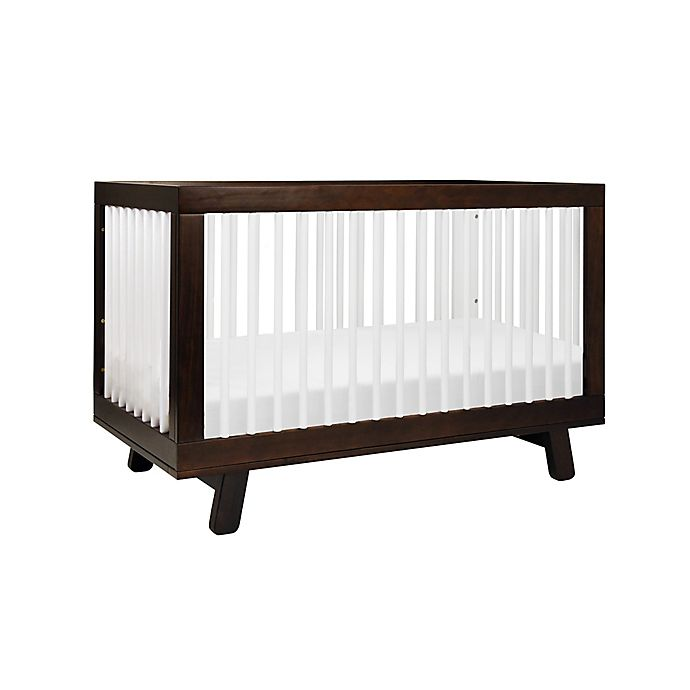 Alternate image 1 for Babyletto Hudson 3-in-1 Convertible Crib in Espresso/White