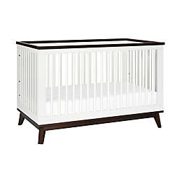 Babyletto Scoot 3-in-1 Convertible Crib in White/Walnut