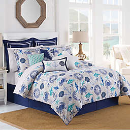 Williamsburg Barnegat Coastal Comforter Set in Blue