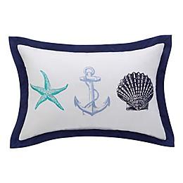 Williamsburg Barnegat Coastal Oblong Throw Pillow