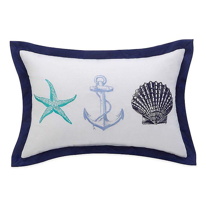 Alternate image 1 for Williamsburg Barnegat Coastal Oblong Throw Pillow