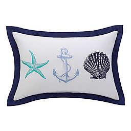 Williamsburg Barnegat Coastal Oblong Throw Pillow in White