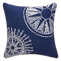 Williamsburg Barnegat Nautical Square Throw Pillow in Blue