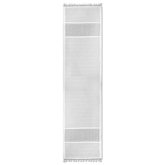 Alternate image 1 for Heritage Lace® Prima Table Runner in White